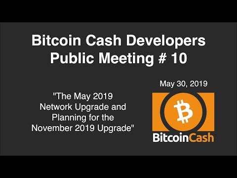 Bitcoin Cash Development video meeting #10 – May 30, 2019