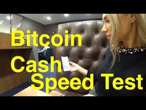 Bitcoin Cash Speed Test BCH for beginner