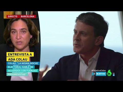 """Ada Colau, sobre el posible apoyo de Valls: """"Todos los votos serán bienvenidos a la investidura"""""""
