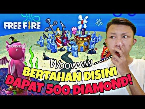 Kota Tersembunyi Ada BIKINI BOTTOM Di Free Firee! dan Challenge 500 Diamond Bertahan no Kill!