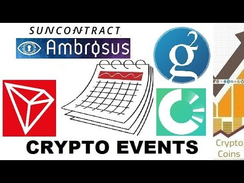 Upcoming Cryptocurrency Events (18th-24th of June) – TRON, GRS, OriginTrail, SunContract, Ambrosus