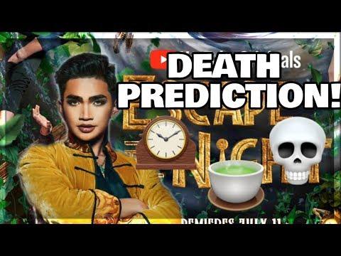 ETN 4 DEATH PREDICTION #1 || ESCAPE THE NIGHT SEASON 4