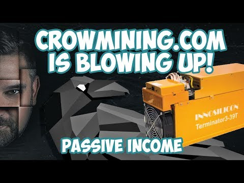Passive Income With CrowMining.com – Bitcoin Mining For EVERYONE!
