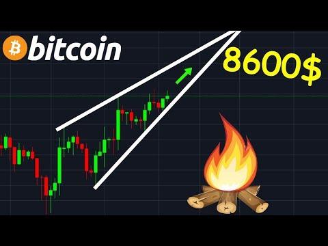 BITCOIN 8600$ MONTE MON PETIT, MONTE !? btc analyse technique crypto monnaie
