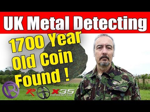 UK Metal Detecting: OMG ! On The Roman Again – 1700 Year Old Coin !