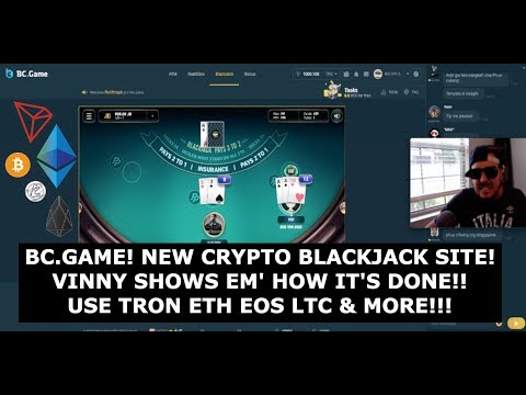 BC GAME! NEW CRYPTO BLACKJACK SITE! USE BITCOIN TRON EOS ETH LTC & MORE!