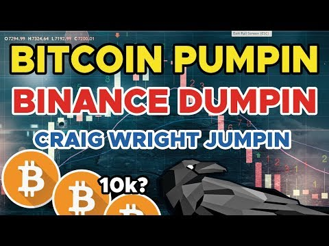 BITCOIN PUMPIN! 💰 Binance Dumpin! 😱Craig Wright Jumpin!  😭