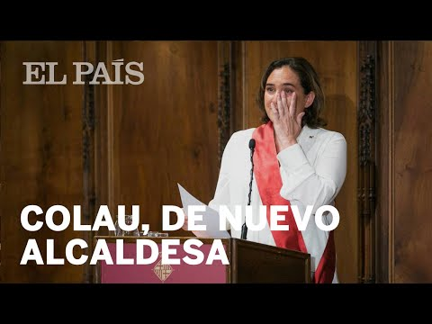Ada Colau investida de nuevo como alcaldesa de Barcelona