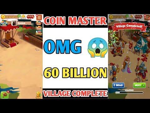 COIN MASTER TRIK- HIGH LEVEL VILLAGE COMPLETE 60 BILLION COIN OMG.!