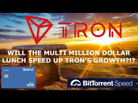 TRON TRX! WILL THE MULTI MILLION DOLLAR LUNCH SPEED UP GROWTH?!?