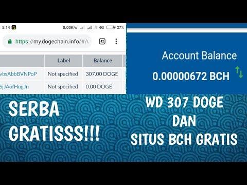 Withdraw 307 Doge Dan Situs Penghasil Bitcoin Cash 2019 | Serba Gratissss