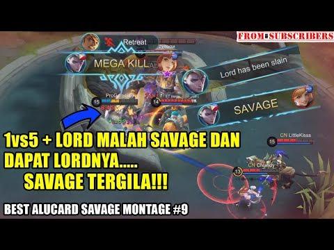 Asli Gak Ada Takutnya!!! 1vs5 Dihajar dan Dapat Lord xD   Alucard Savage Montage #9