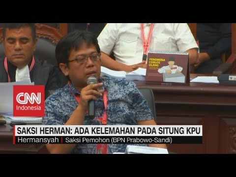 Saksi Herman: Ada Kelemahan Pada Situng KPU