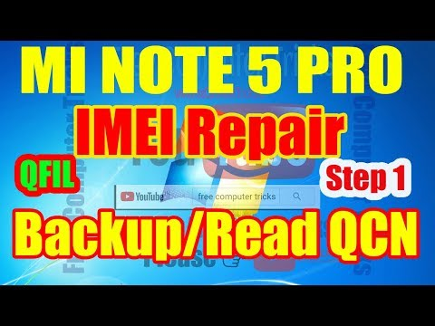 Redmi Note 5 Pro – How to Backup QCN File Using QFIL – IMEI Repair Step 1