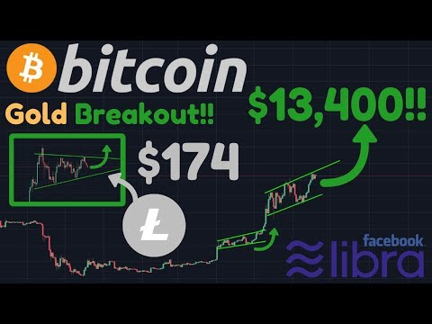 BITCOIN TO $13,400!!! | Litecoin To $174 & Gold To $1640!! | Libra | Bitcoin 8th Largest Currency!!