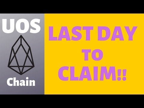 LAST DAY! Claim UOS Chain Airdrop For EOS Holders