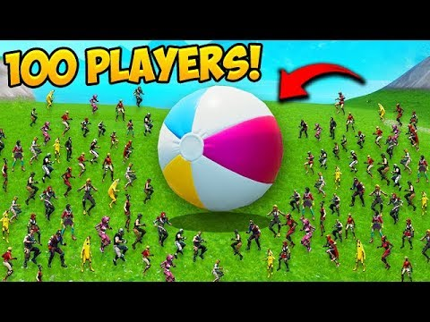 GIANT BEACHBALL AND 100 PLAYERS! – Fortnite Funny Fails and WTF Moments! #595