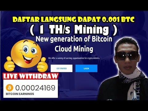 Daftar langsung dapat 0.001 BTC – Live WD ke 11  bitcoin mining terbukti membayar
