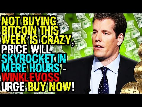 NOT BUYING BITCOIN This WEEK IS CRAZY, Price WILL SKYROCKET In MERE HOURS – Winklevoss Urge BUY NOW!