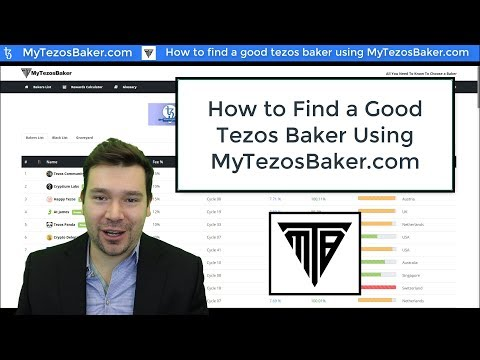 How to find a good Tezos Baker using MyTezosBaker.com