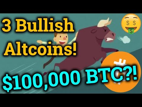 3 Bullish Altcoins For 2019! $100,000 Bitcoin BTC Price Prediction! Vechain/Cryptocurrency News