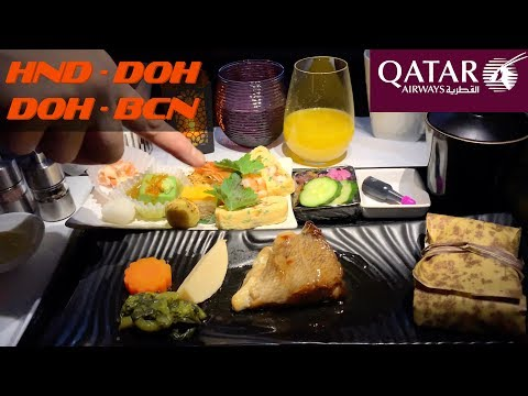 Qatar Airways – Business Class (HND-DOH-BCN)
