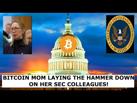 BITCOIN MOM LAYING THE HAMMER DOWN ON HER SEC COLLEAGUES!!!