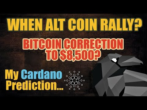 When Alt Coin Rally? Bitcoin Correction to $8,500? My Cardano Prediction