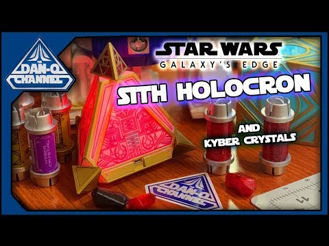 Sith Holocron from Star Wars Galaxy's Edge review Kyber Crystals!