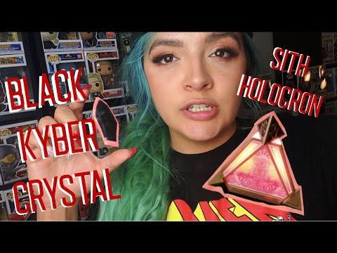 Black Obsidian Kyber Crystal l Sith Holocron l Star Wars Galaxy's Edge