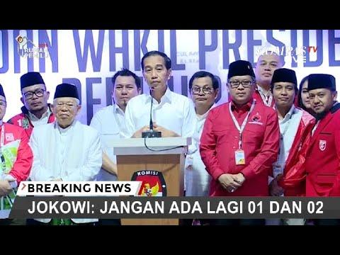 [TERBARU] Jokowi: Jangan Ada Lagi 01 dan 02