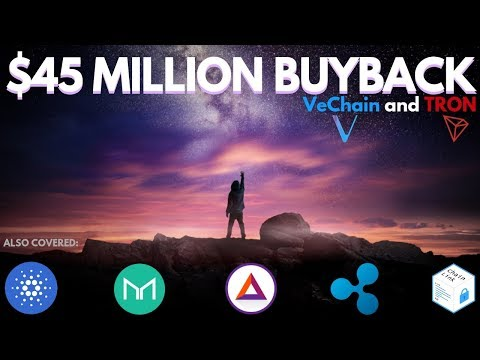 HUGE Tron and VeChain Buyback! CRAZY Chainlink Surge, ADA, MKR, BAT, XRP – Altcoin Update