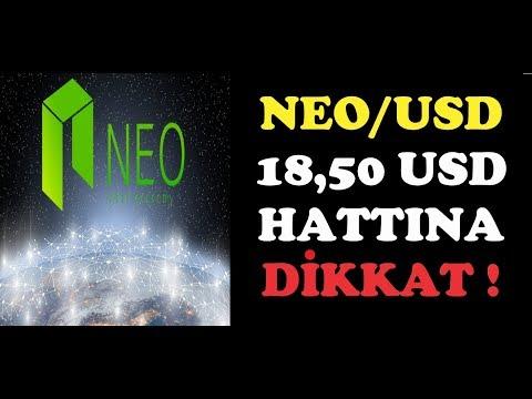 NEO/USD 18,50 DOLAR $ HATTI ÇOK ÖNEMLİ DİKKAT !