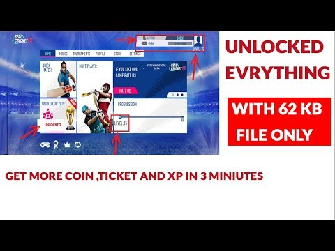 how to unlock everything in RC 19 and get more coin esaly  with only 62 kb file ..