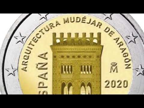2 euro coin 2020 Espana Mudejar Architecture of Aragon