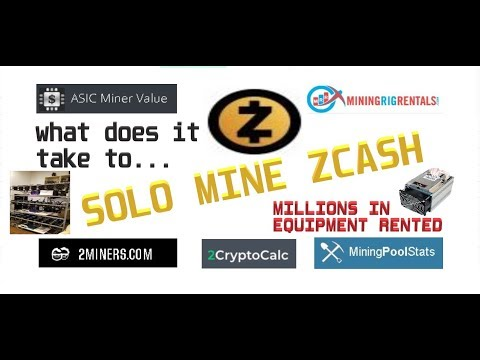 What does it take to SOLO MINE ZCASH?  We rented millions of dollars of equipment to find out….