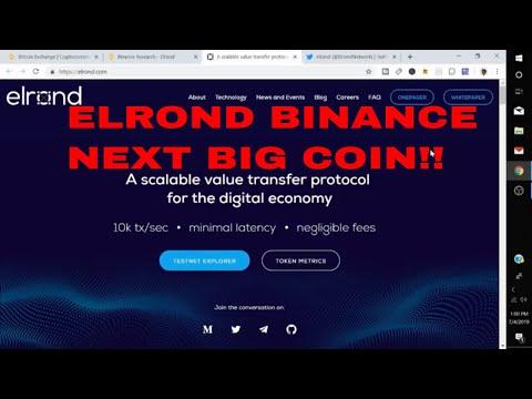Elrond Network Binance Lab Project ERD Coin Price Prediction ERD Coin Binance