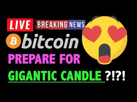 Bitcoin PREPARE FOR GIGANTIC CANDLE?!🛑-LIVE Crypto Trading Analysis & BTC Cryptocurrency Price News