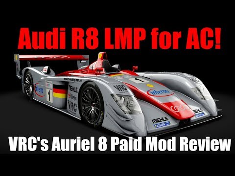 VRC Auriel 8 / Audi R8 LMP – Assetto Corsa Car Mod Review