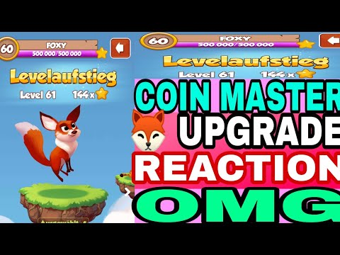 COIN MASTER TRICK ll FOXY UPGRADE REACTION OMG 🤘