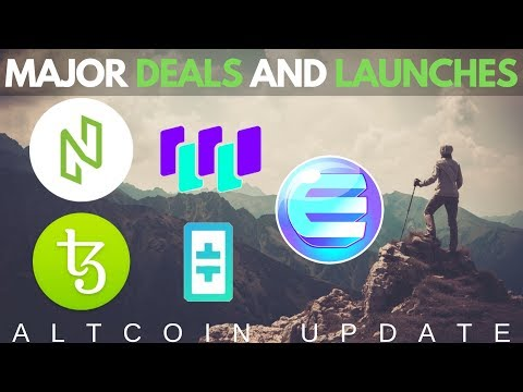 $1Billion Tezos Deal, NULS 2.0 Launch, Theta, Waltonchain, Enjin Coin – Altcoin Updates