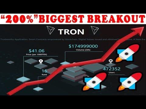 TRON (TRX) PRICE PREDICTION 2019 – 200% BREAKOUT!