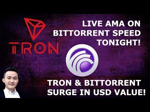 TRON TRX BITTORRENT JUSTIN SUN LIVE AMA TONIGHT! TRON SURGES!