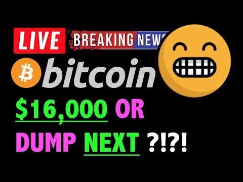 Bitcoin READY FOR $16,000 OR DUMP?! 🛑- LIVE Crypto Trading Analysis & BTC Cryptocurrency Price News