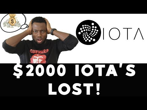 I lost $2000 IOTA's!😱😱😱