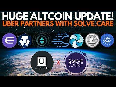 HUGE: UBER Partners with Solve.Care! LTC Halving, Enjin, MCO, Theta, ADA, Celer, HPB