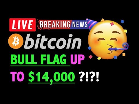 Bitcoin BULL FLAG SPIKE UP TO $14K?! 🛑-LIVE Crypto Trading Analysis & BTC Cryptocurrency Price News