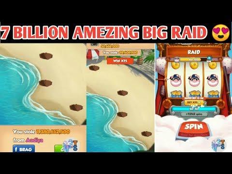 COIN MASTER TRIK- OMG 7 BILLION COIN AMEZING BIG RAID 😯😯 ऐसी रेड हरदम मिलें.!