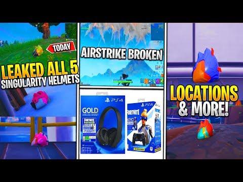 *NEW* Fortnite: ALL 5 Singularity Helmet Locations, Airstrike Grenade Issues & Neo Versa Bundle!