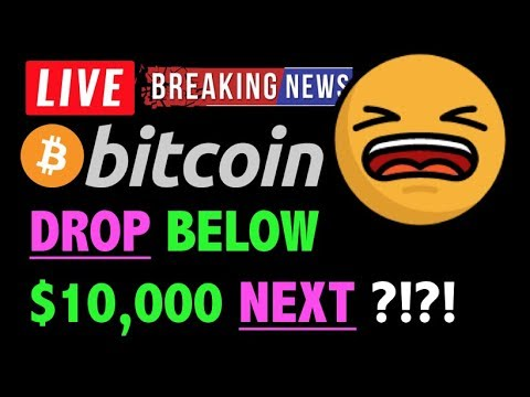 Bitcoin MAY DROP BELOW $10,000?! 🛑 – LIVE Crypto Trading Analysis & BTC Cryptocurrency Price News